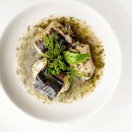 Anguila en salsa verde a la Timmermans Lambicus Blanche