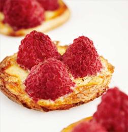 Tartaletas de frambuesas a la Timmermans Framboise