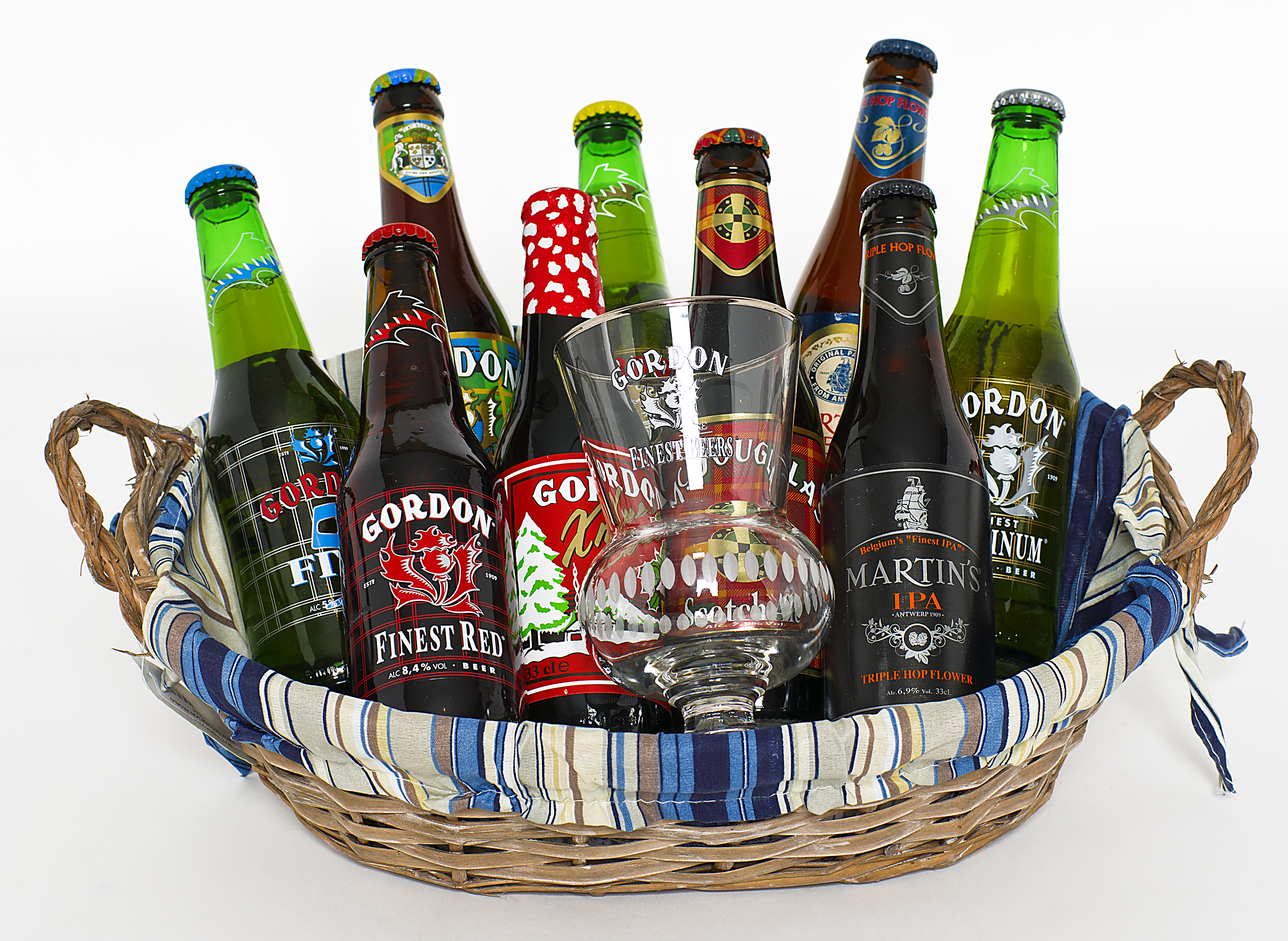 En 2015…¡Regala cerveza!: Cesta 'Gordon & Friends'